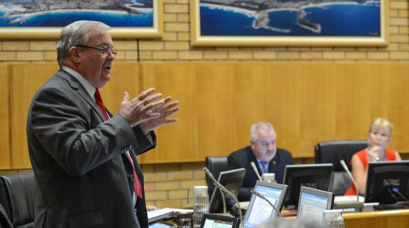 Coffs Harbour councillor Keith Rhoades is a vocal critic of forced amalgamations