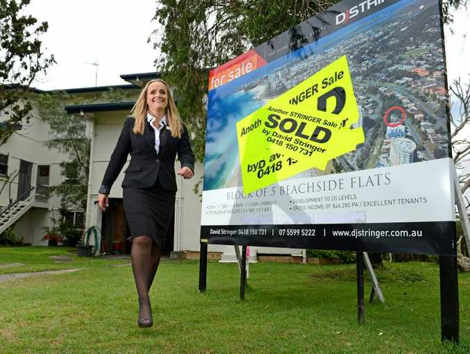 Belinda Trotman for story about booming property sales.