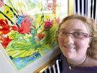 CREATIVE STREAK: Stephanie Robson suffers from cerebral palsy but art has opened up a new world to her.