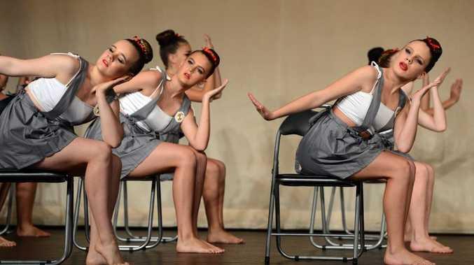 Murwillumbah festival of performing arts. Contemporary dance group. Woolgoolga dance studio B
