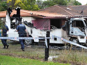 Fire Destroys vehicle in Blacksoil