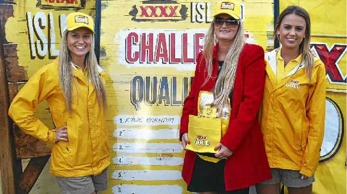 ISLAND GIRL: Kylie Barham, of Raceview, is looking forward to staying at XXXX Island after winning a promotional competition at Ipswich Racetrack. She is pictured here with the competition promotion team.