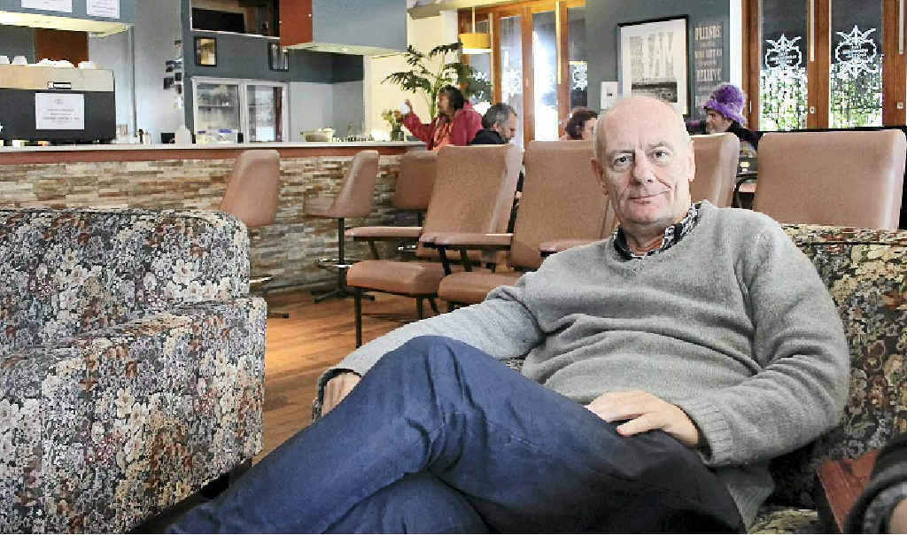 WELCOME: Reverend Tim Costello relaxes at The Winsome Soup Kitchen.
