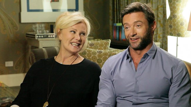 Hugh Jackman and Deborra-Lee Furness on 60 minutes. Picture: Channel 9