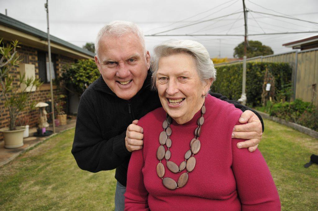 June Kearsley and her son-in-law Darryl Higgs.