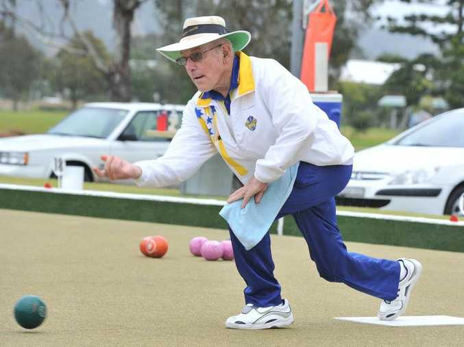 Kevin Soward pictured at the South Lismore Bowling Club in 2013.