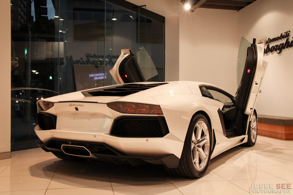 The Lamborghini Aventador LP700-4.