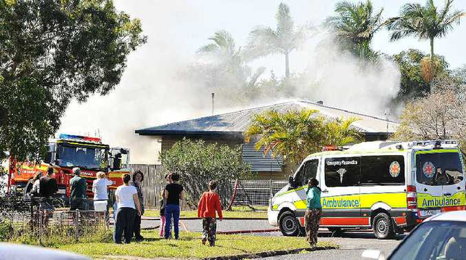 Fire damaged a house on Absolon St in South Mackay.