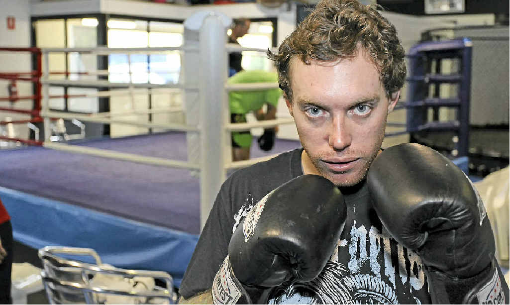 Dean Morcombe prepares for a fundraising fight night at The Events Centre, Caloundra.
