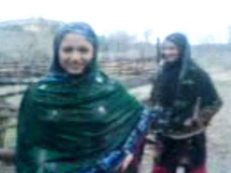 A still from the video which allegedly shows the two girls.