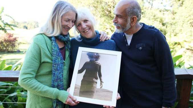 IN MEMORIUM: Ri Fraser with Mary and Clency Bernard. Photo Veda Dante / Byron Shire News