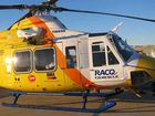 Man airlifted after rollover