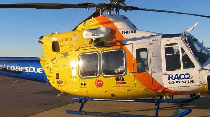 The RACQ-CQ Rescue helicopter has been tasked to Notch Point.