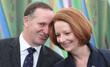 John Key with then PM Julia Gillard back in 2013.