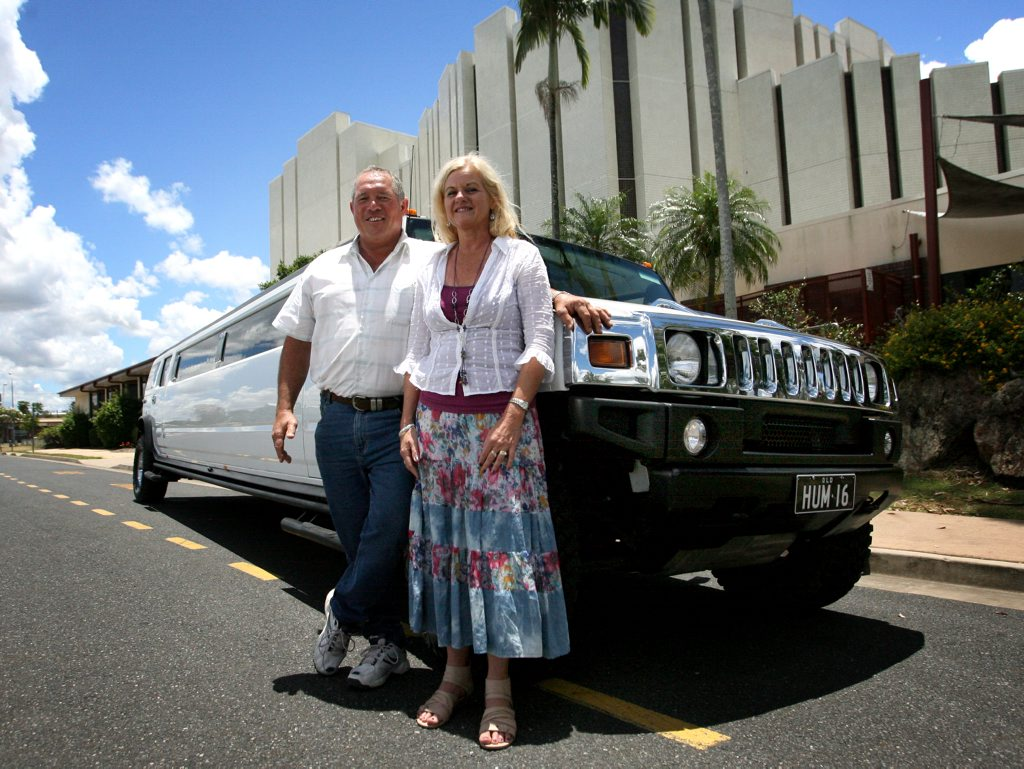 Bill and Shelly Boswood with their Hummer limo. Photo Allan Reinikka / The Morning Bulletin