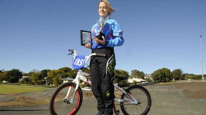 Carissa Osborne was awarded the Carly Hibberd Memorial Trophy after her success at the South Queensland BMX Championships.
