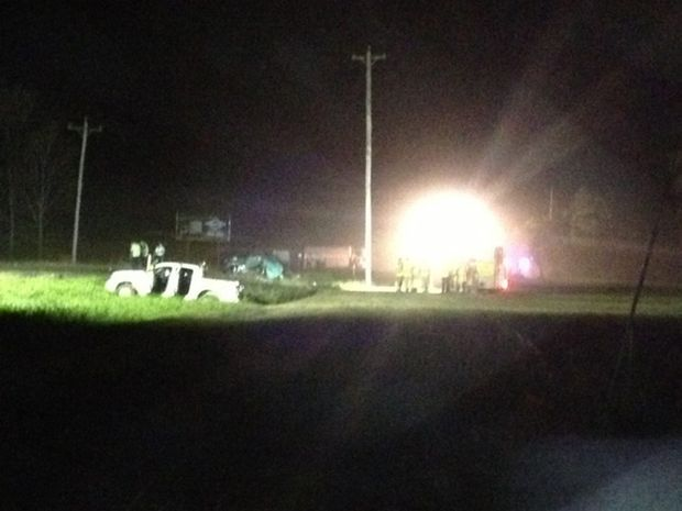 Crash at Sandy Creek that killed two young girls.