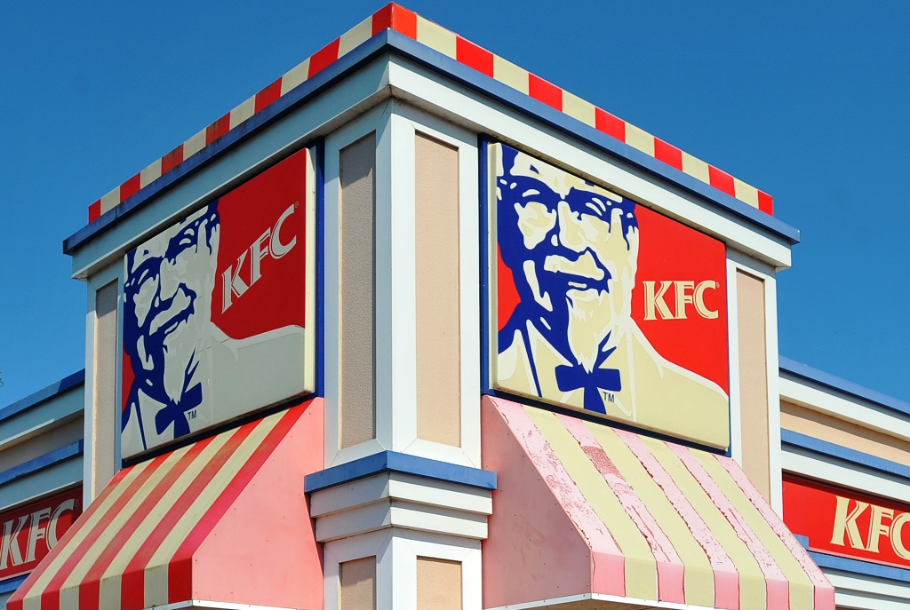 A man drove to KFC after downing 12 beers.