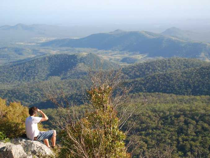 The view from Mount Larcom peak, near Gladstone.