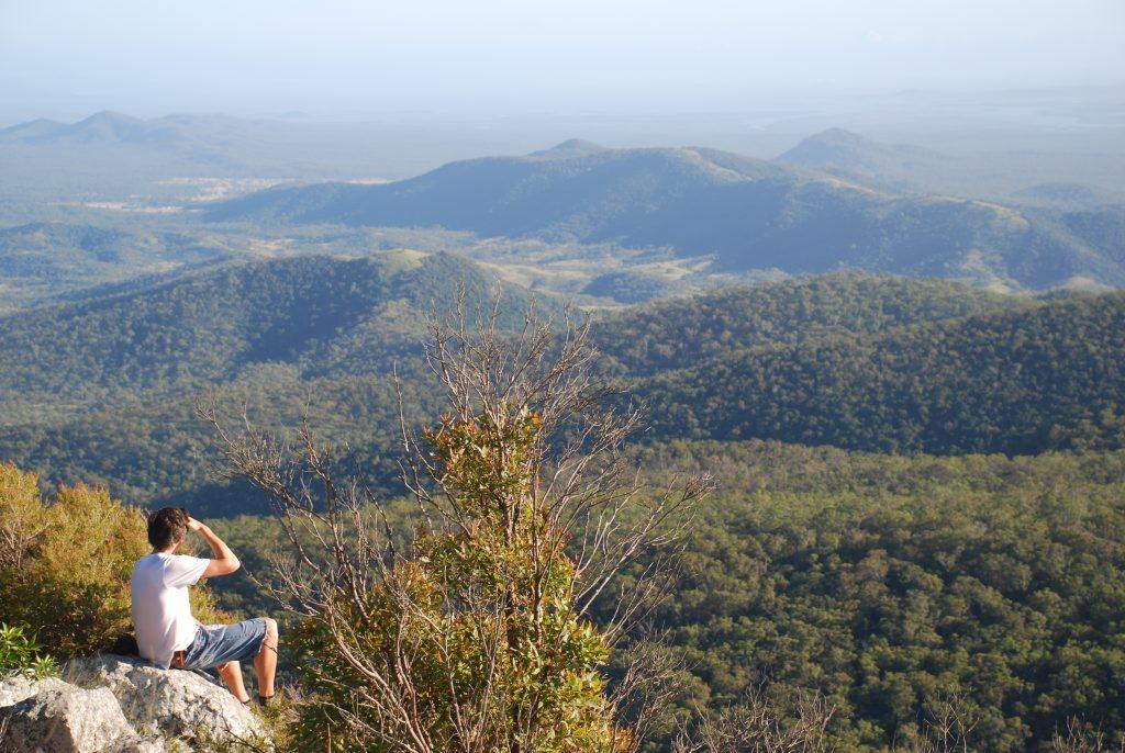 The view from Mount Larcom peak, near Gladstone.