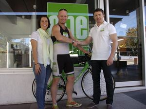 Small business steps up to help ironman reach goals