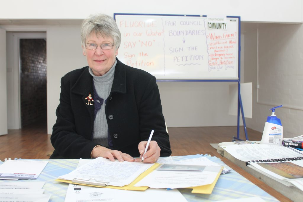 FLUORIDE PETITION: Sue Johnson supports the removal of fluoride from our water. Photo Linden Morris / Stanthorpe Border Post