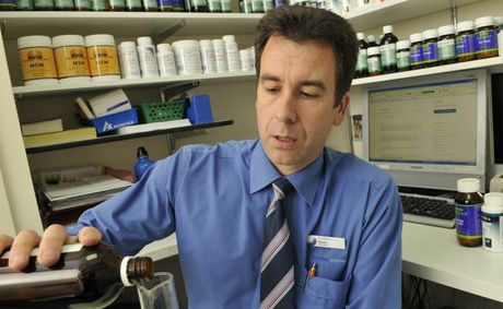 Naturopath David Howell on TGA's move to stop naturopaths prescribing supplements. Photo Dave Noonan / The Chronicle