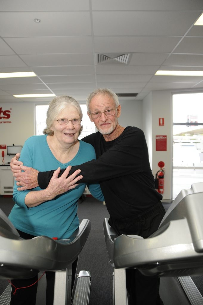 Self-confessed gym junkies John, 75, and Marion Murray, 73.