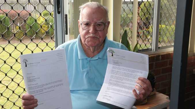 Reg and Peggy Hegarty are upset at having received a bill of seven hundred and fifty dollars for their time they spent at the Gunther Village in Gayndah. The elderly couple were evacuated from their home in North Bundaberg during the floods.