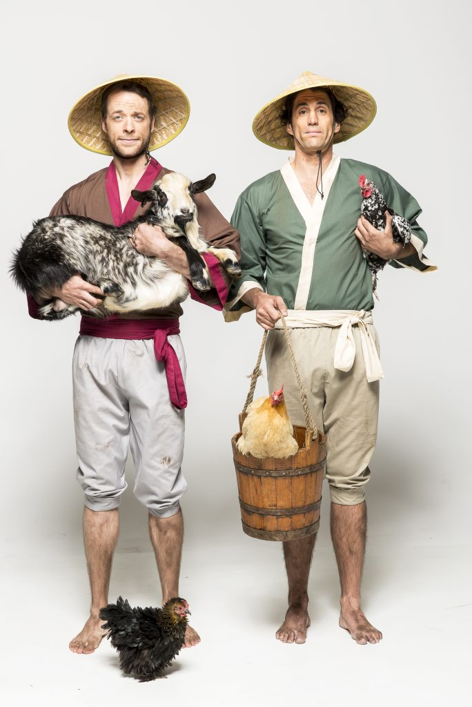 Hamish Blake, left, and Andy Lee star in the TV series Hamish & Andy's Gap Year Asia.