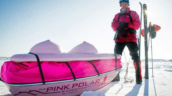 Dr Geoff Wilson and his 'boob sled' will trek across the Antarctic to raise funds for breast cancer awareness and research.