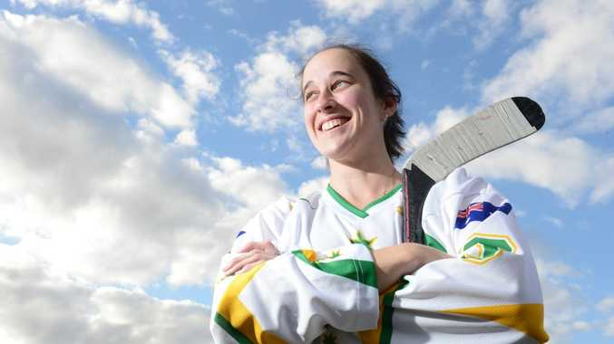READY TO ROLL: Ipswich Knights footballer Jess Beahan will represent Australia at the world inline hockey titles this month.