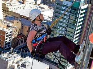 Brave abseilers hang on for charity