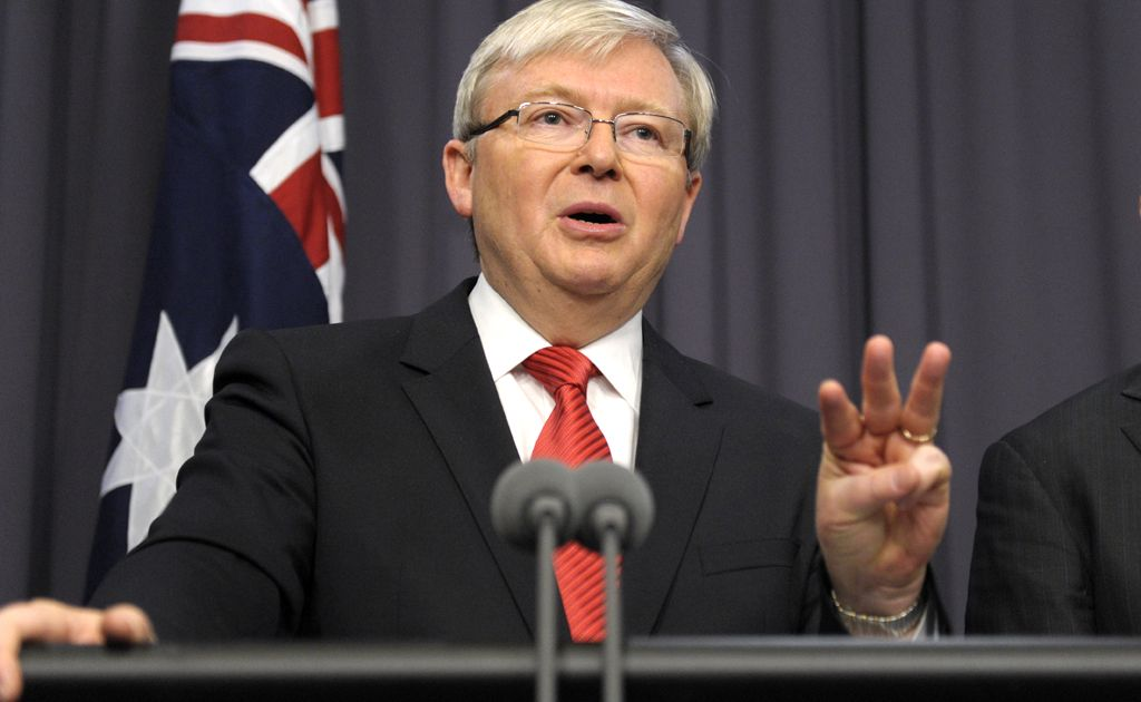 POLL BOOST: Prime Minister Kevin Rudd has lifted the hopes of Labor MPs.