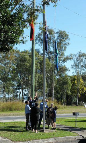 JOINT EFFORT: NAIDOC flag-raising ceremony at Yamanto.