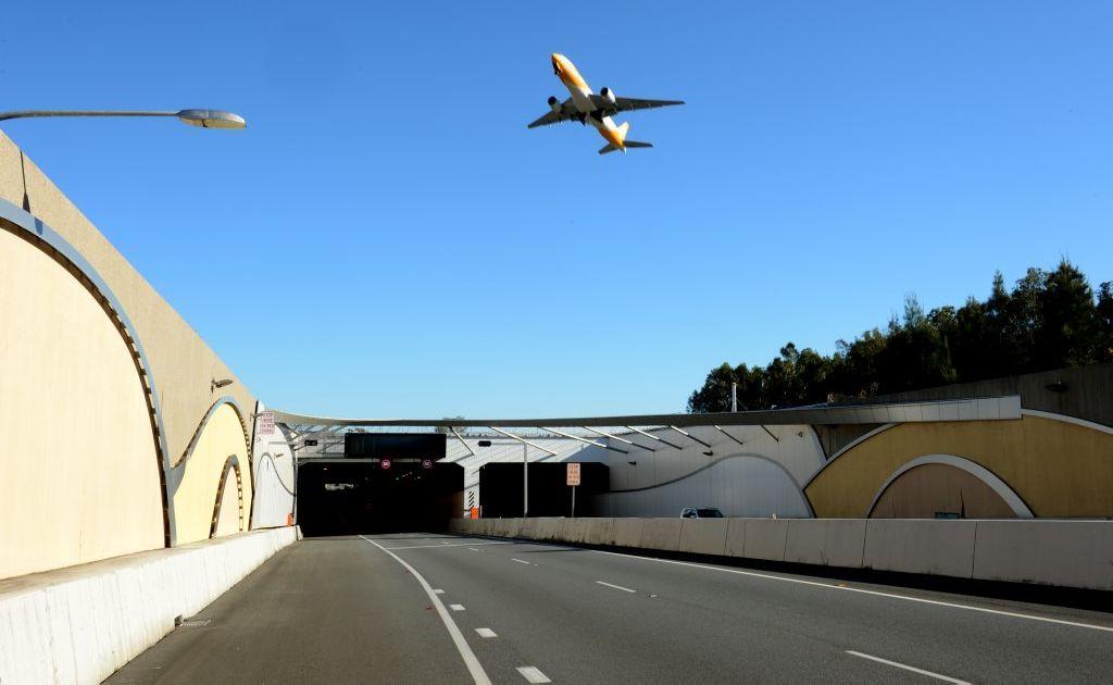 The Tugun bypass tunnel, heading north
