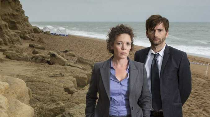 David Tennant as Detective Inspector Alec Hardy and Olivia Colman as Detective Sergeant Ellie Miller in a new crime drama series Broadchurch.