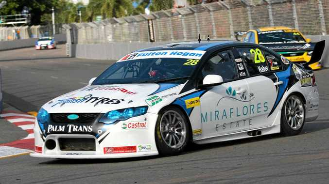 GREAT START: Mackay man Morgan Haber races in the Townsville 400, held on the weekend.