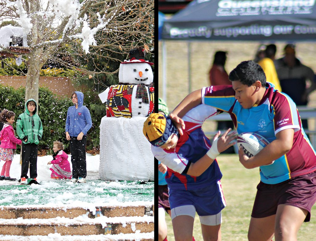 STANTHORPE ON SHOW: Between Snowflakes in Stanthorpe and the Vic Jensen Rugby League Carnival, visitors had plenty to see in town last week. Photo Contributed
