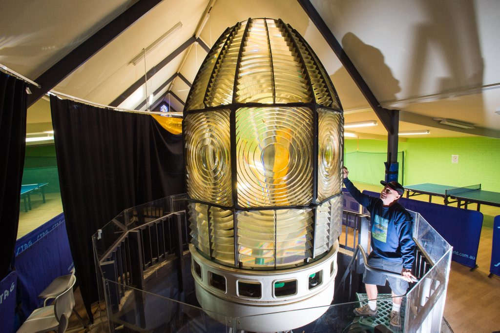 Former lighthouse keeper Rob Tresize says the historic beacon from South Solitary Island will be turned on again at the Old Coffs Harbour Museum on Saturday, July 27.
