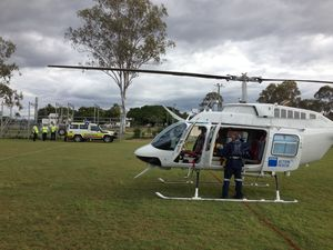 Man airlifted from Miriam Vale after chainsaw accident