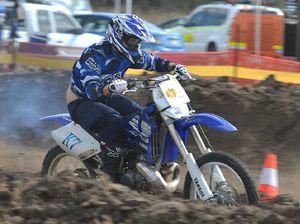 V8 motorbikes churn up the dirt at Sarina