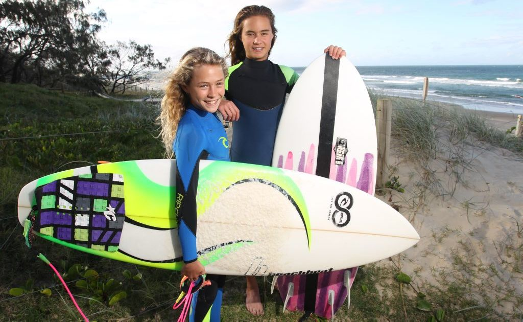 Maroochydore SLSC nippers and best friends Tiarnee Massie (left), 12, and Grace Kaihau, 13, saved a man in the surf while they were holidaying in Thailand.