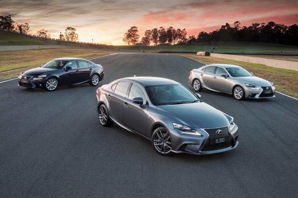The new Lexus IS range.