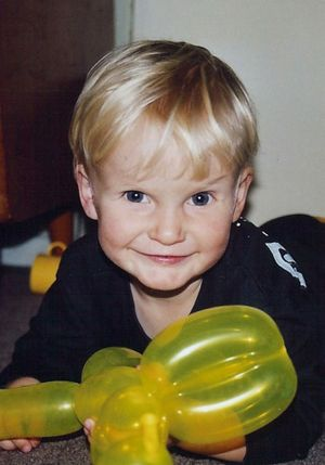 Conor McAuliffe died from cancer at age three. Photo: Contributed