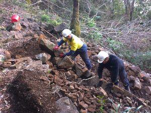Big guns from Tassie arrive to rebuild Wollumbin track