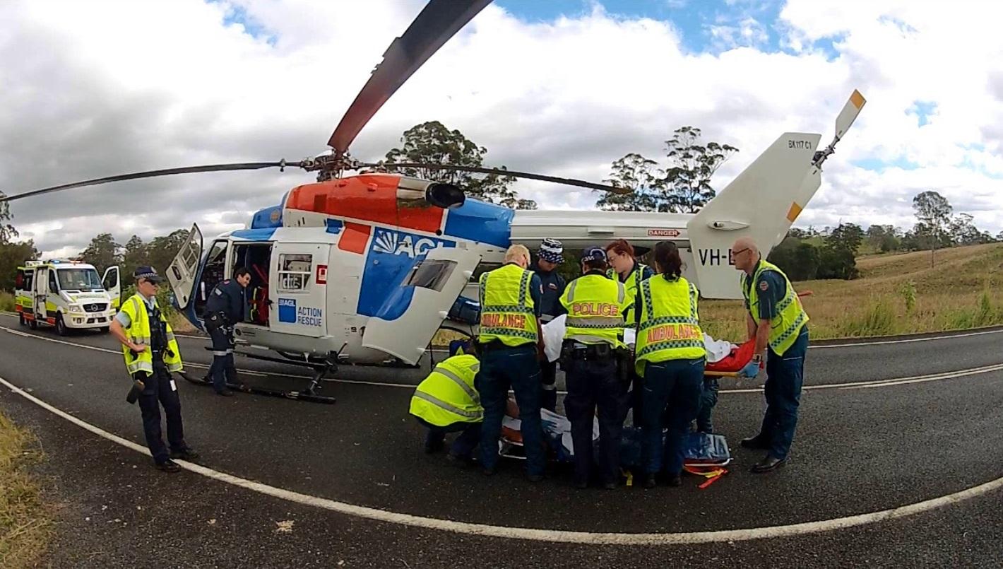 The Sunshine Coast RACQ CareFlight Rescue Helicopter.