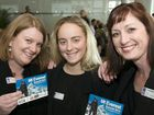 Alyssa Azar (centre) at the Toowoomba Chamber of Commerce and Industry lunch with Helen Braithwaite and Kathleen Hart.