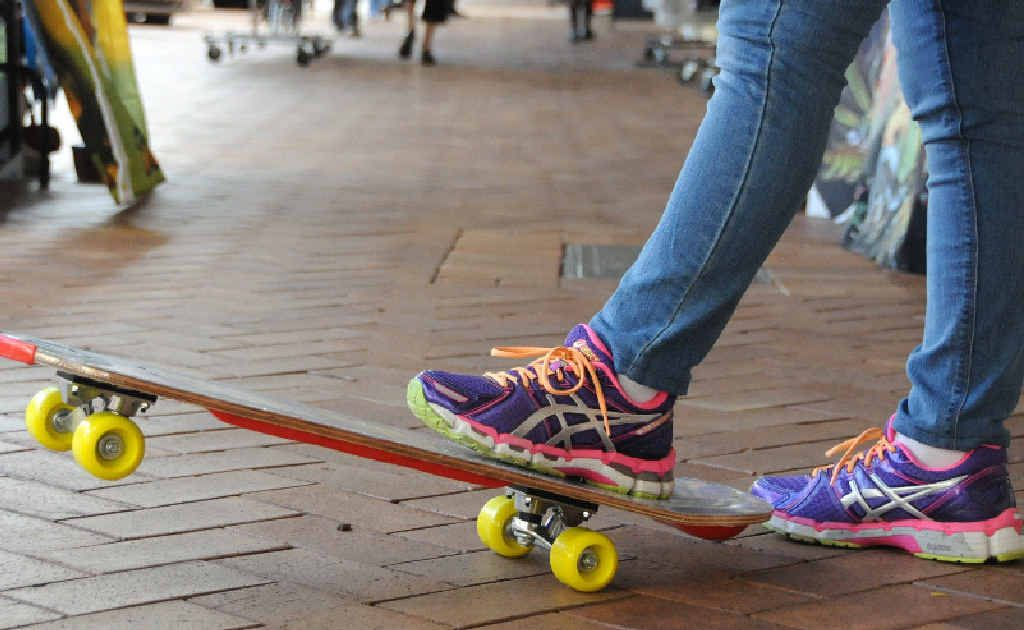 Gympie police have vowed to crack down on youths riding their skateboards, scooters or bicycles in Mary St.