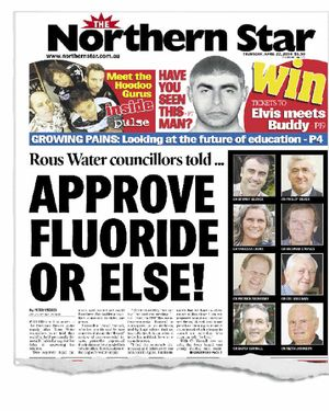 How The Northern Star broke the story of Rous councillors who were told they could face legal action if they voted against fluoridation.